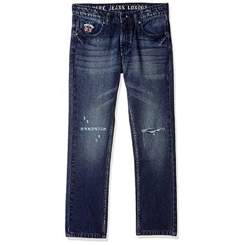 Pepe Jeans Boy's Straight Fit Regular Jeans (PB201446Q03_Dark Used_12-13 Years)