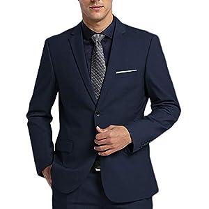 FTIMILD メンズスーツ ビジネススーツ 上下セット セットアップ 2ピース スリム 紳士服 二つボタン 細身シルエット 礼服 結婚式 無地 就活 オールシーズン 防シワ