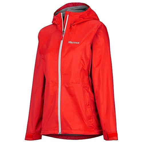 Marmot Damen PreCip Eco Plus Jacke Regenjacke, Victory Red, L