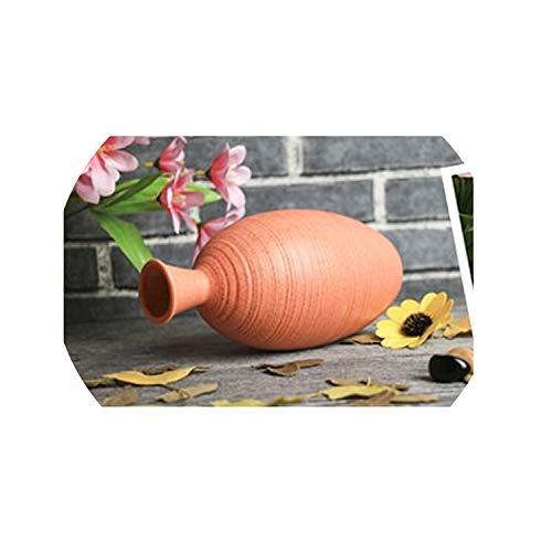 Modern Vases Decoration Home Ceramic Flower Vase for Dining Table Office Wedding Living Room Accessories Pottery Vase Filler,Brown
