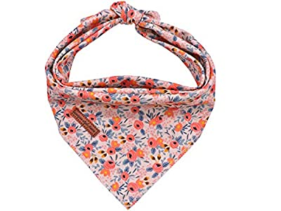unique style paws Dog Bandanas 1PC Washable Bibs Scarf, Pet Dog Kerchief, Cotton Triangle Dog Scarfs for Small Medium Large Girl or Boy Dogs and Cats