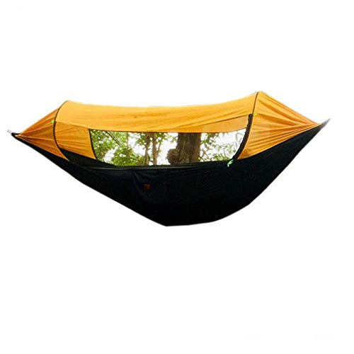 Hamaca Hamaca for acampar al aire libre Sombrilla multifunción Hamaca antimosquitos Paño de paracaídas Oscilación Segundos Tienda abierta de velocidad abierta para el aire libre Montañismo Viajes con