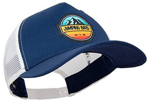 Jumping Bird Trucker Cap mit Mesh-Netz Unisex Nebelhorn • Retro Mesh Cap in USA Style • Individuell verstellbar und leicht abwaschbar