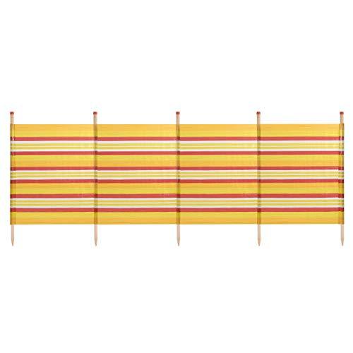 WBL Sun Protection Outdoor Standard Stripes Windbreak available in Yellow - 5 Pole