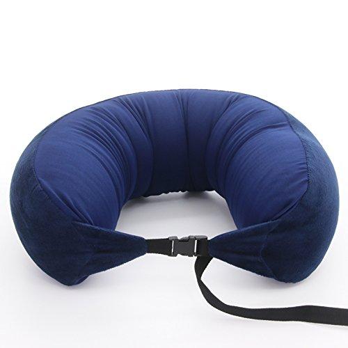 BJL U-shaped Neck Pillow Support Cushion Office Nap Portable Travel Neck Head Memory Foam Lightweight Soft Pillow travel pillow (Color : D)