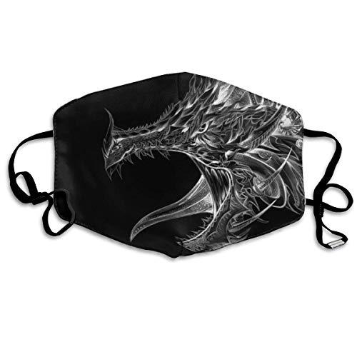Komfortable verstellbare erstaunliche Dragon Tribal Black Mundschutz für Frauen und Männer
