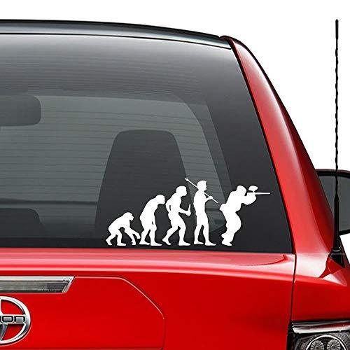 NKCTF-Car decals Theory of Evolution Paintball-Spiel Vinyl vorgestanzte Aufkleber für Windows Wand Dekor Auto LKW Fahrzeug Motorrad Helm Laptop und mehr - (Größe 6 Zoll / 15 cm breit) / (Farbe Glanz W