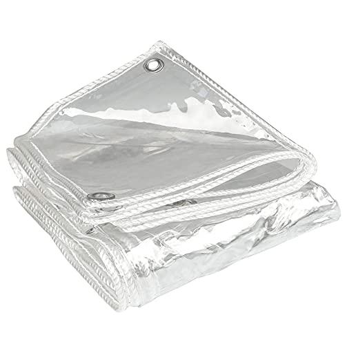 Lonas Impermeables Exterior,Lona De PláStico Transparente Resistente A La Lluvia,Lona Transparente Toldo 0.3mm,Lona Resistente a la Intemperie Y Plegable para Proteger Las Plantas(Size: 0.8*2m(2.6*6.