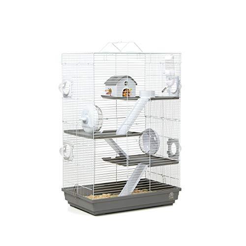 Wagner Cages ® | Hamsterkäfig Lenzkirch Käfig für Hamster mit sehr viel Zubehör, Mehrstöckig