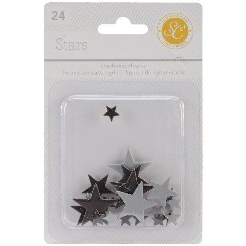 Studio Calico Essentials Star Spanplattenformen, Schwarz/Grau, 24-teilig