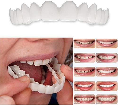 XIAOCUI Komfort Zähne Veneers Obere Unterkiefer Instant Smile Kosmetik Größe Passt Kieferorthopädisch (Unten + Oben) Reparieren Sie schnell Ihre Zahn und Lächeln