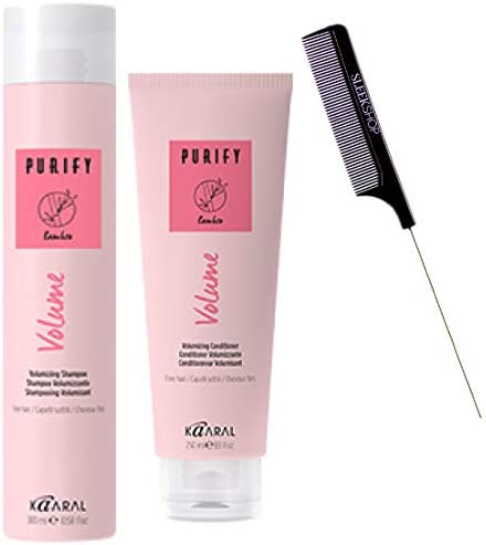 Kaaral Purify Volume Volumizing Shampoo Conditioner Duo Set Adds Body Thicker Hair Sweet Almond product image