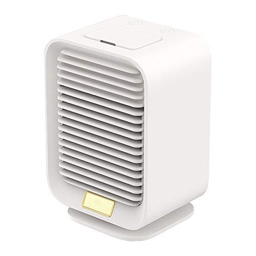 Aire Acondicionado USB, Enfriador De Aire, Mini Acondicionador De Aire Móvil, Climatizadores Evaporativos con Función De Humidificación, 3 Velocidades, para El Hogar Y La Oficina (Color : White)