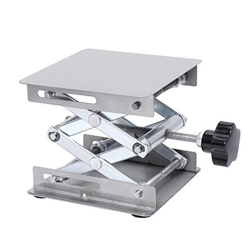 Lab Jack Stand Platform 100mm X 100mm Stainless Steel Scissor Table Lift...