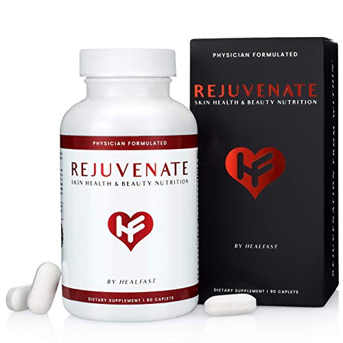 HealFast Rejuvenate - Anti Aging Beauty & Skin Supplement - Clinically-Studied Ingredients w/Nicotinamide & Verisol Collagen Peptides - Physician Formulated - for Energy, Skin, Hair, Nails - 90 Pills