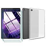 LJSM Cover per Lenovo Tab M10 FHD Plus + [3 Pezzi] Pellicola Protettiva in Vetro Temperato - Semi-Trasparente...