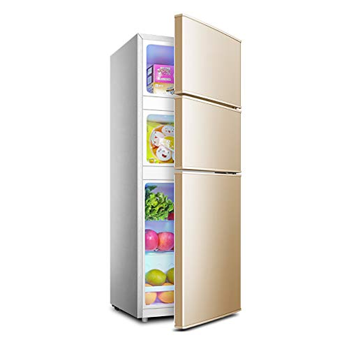 Unbekannt Dreitürige Kühlschrankkombination | 108L Große Kapazität, Konstante Temperatur 6-18 ℃ | Stumm | Doppelte Temperaturregelung , Für Heim, Büro, Küchen-Gefrierschrank
