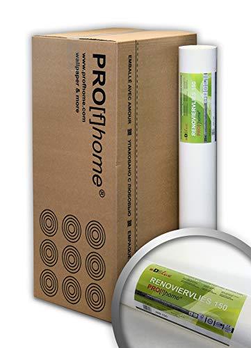 PRO[f]home® - Renoviervlies 150 g Malervlies Saniervlies Anstrich-Vlies überstreichbare Vliestapete 168,75 qm 1 Kart. 9 Rol.