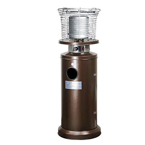 xinxinchaoshi Calefactor Portátil Calentador de terraza, Calentador de Gas licuado, Estufa de Parrilla de Gas licuado Interior Ventilador Calefactor (Color : A)