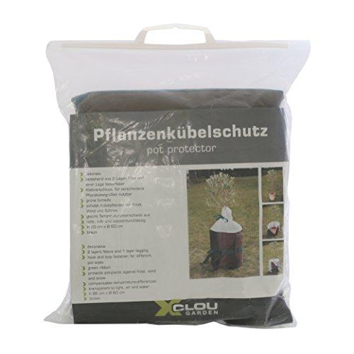 Xclou Protection Pots, Protection, Plante d'hiver, Hiver, Fibre Isotherme intissé, Ø 45 cm, h. 45 cm, Marron