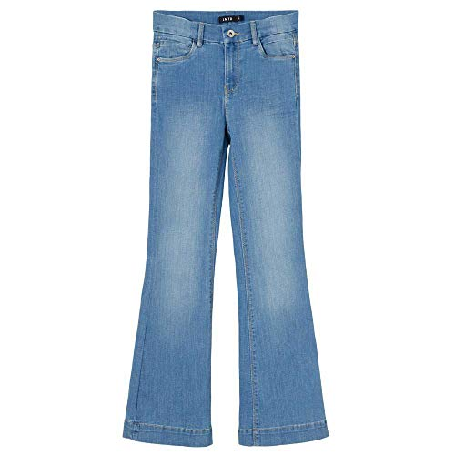 NAME IT Mädchen NLFPIL DNMATEJAS 2455 HW Boot Pant NOOS Jeans, Medium Blue Denim, 176