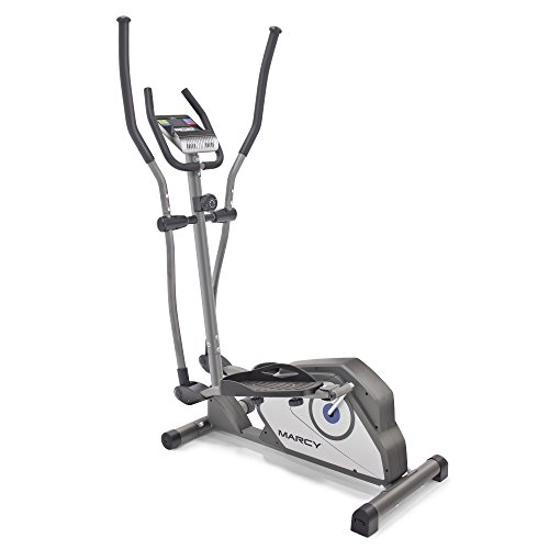 Marcy Magnetic Elliptical Trainer Cardio Workout Machine with Transport Wheels NS-40501E by Impex Inc. - DROPSHIP