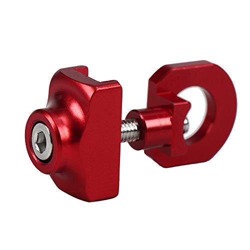Tenditore di regolazione della catena della bicicletta, tenditore della bicicletta regolabile a velocità singola bici tenditore catena bicicletta accessori di ricambio nero/rosso/argento