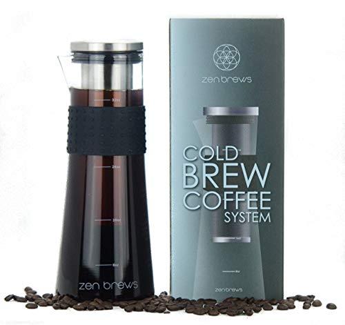 Cold Brew Coffee Maker by Zen Brews   Make Low Acidity -...
