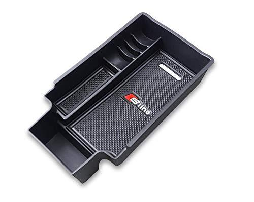 Salusy Car Center Console Armrest Box Glove Box Secondary Storage Compatible for Audi Q3 SUV (Audi Q3 2013-2018)