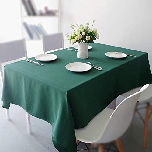 WHDJ Thicken Tablecloths,Soft Polyester Table Cloth Solid Color No-Fade Not-Deformed Table Cover,(Rectangle,Square,Round)