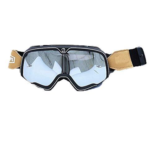 Hexuan Hochwertige 100% Barstow Retro Brille für Outdoor Langlauf, Harley Brille und Brille YH07, Cadre Noir complet