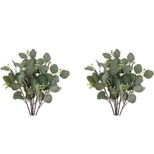 Mandy's 10pcs Artificial Eucalyptus Leaves 16.5' for Home Kitchen Decoration