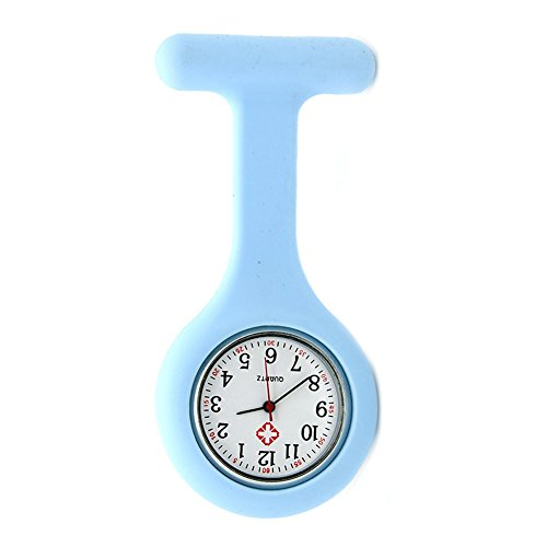 Nurse Watch Brooch, Silicone with Pin/Clip, Infection...