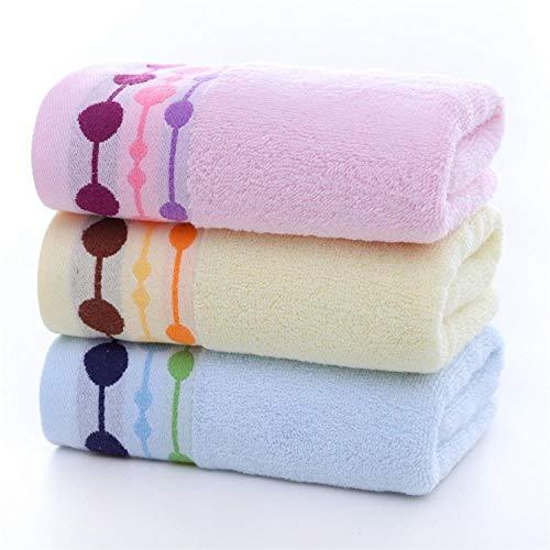 Fuduoduo Egipcio algodón Toallas,Toalla Absorbente Gruesa Suave de Color Puro 35 * 75-Color Mezclado 3 Piezas,Home Toallas De BañO De AlgodóN