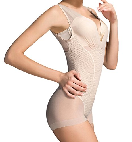 Butterme mujeres verano transpirable body super slim sin costuras shaper s¨®lido control...