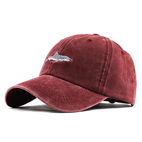 Luckhome Baseball Caps,Cap im Military-Stil aus robustem Baumwollcanvas, verstellbar, UnisexUnisex-Outdoor-Baumwolle Hochwertige bestickte Unisex-Baseballmützen einstellbar(rot)
