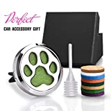 CHIDRA Dog Paws Car Essential Oil Diffuser,1.2' Aromatherapy Essential Oil Vent Clip,Fragrance Locket-Waterless & Wireless