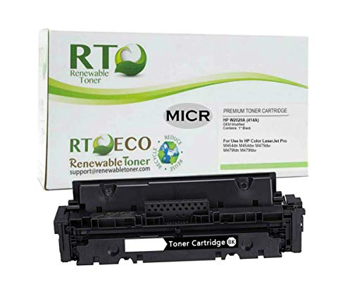 Renewable Toner OEM Modified Magnetic Ink Cartridge Replacement for HP W2020A 414A MICR Laserjet M454 M479