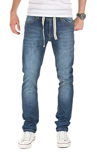 Yazubi Herren Sweathose in Jeansoptik Rick - Skinny Fit - Jogginghose in Jeans-Look, Blau (Dress Blues 4024), W29/L34