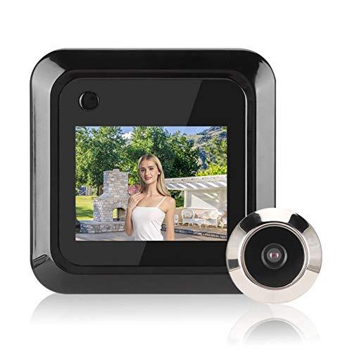 Visor de Mirilla de Puerta Inteligente,Pantalla LCD TFT ultrabrillante de 2.4 Pulgadas,Gran Angular de 0.3MP 140 °,admite un máximo de 640 x 480P,para Sistema de Seguridad para el hogar