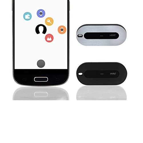 MYNT Smart Item Finder and Remote Control (New Edition)- Tracker, Item Finder, Phone Locator, Wallet Tracker, Smartphone Remote, Camera Remote, Presentation clicker (Two Units, Black and Silver)