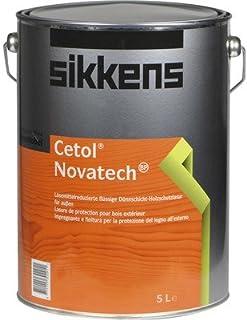 Sikkens Cetol Novatech High-Solid Alkydharz Dünnschicht-Holzschutzlasur für außen 5 L Seidenglänzend Farbton Wählbar, Farbe:Teak 085