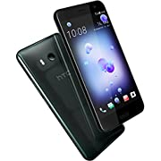 HTC U11 Smartphone (13,97cm (5,5 Zoll), 16 MP Frontkamera, 64GB Speicher, Android) Brilliant Black, mit Amazon Alexa