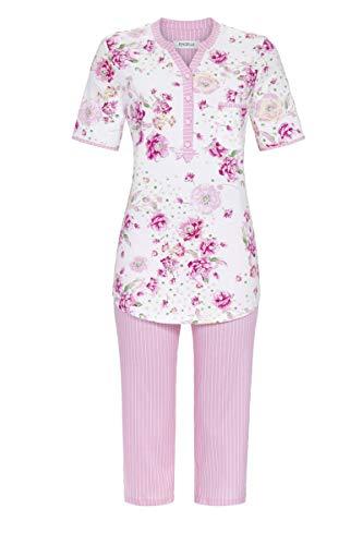 Ringella Damen Pyjama mit Caprihose bunt 48 1211220,bunt, 48