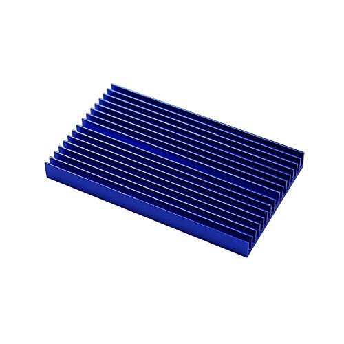 100 * 60 * 10mm DIY Cooler Aluminum Heatsink Shape Radiator Grille Chip Fit For IC LED Power Transistor Sparkmaker SLA 3d Printer Parts (Size : Gold color) (Size : Blue color)