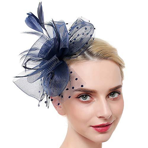 Zoylink Chapeau Fascinant Bandeau De Thé Maille élégante à Double Usage Fascinateur Derrière Fleurs
