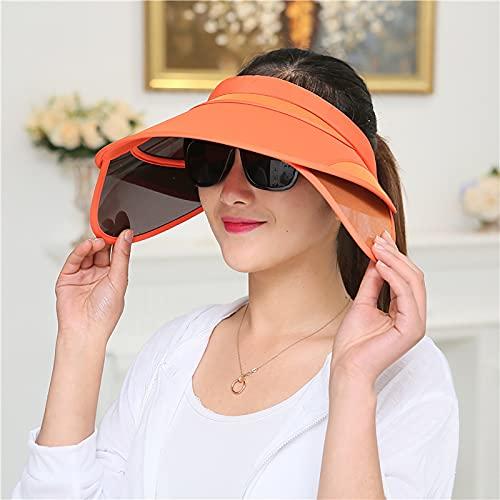 Mujeres UV Protección Sol Sombrero Tapa de visera con diadema ajustable, tapa...