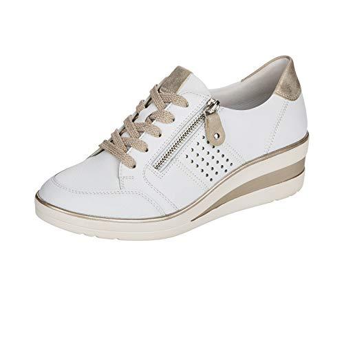 Remonte R7215 - Zapatillas de cuña para mujer, color Blanco, talla 38 EU Weit