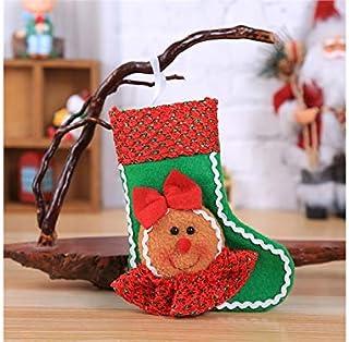 Pengcher Gingerbread Man Christmas Socks Christmas Tree Ornament Christmas Decorations(Green)