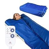 Infrasauna - Manta infrarroja para sauna 180x220 cm, control remoto de 2 zonas, spa portátil en casa, terapia infrarroja infrarroja, desintoxicación corporal, sudoración caliente, antienvejecimiento
